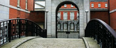 Dublin Castle. Cobbler street entrance to castle Royalty Free Stock Photography