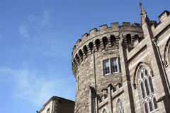 Dublin Castle. A castle turret against blue sky of Dublin Castle, Ireland Stock Photography