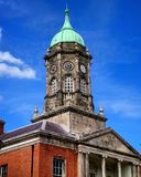 Dublin castle. Clock tower, castle, dome roof, Dublin, Ireland Royalty Free Stock Image