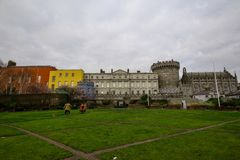 Dublin Castle di Dame Street, Dublino, Irlanda fotografie stock