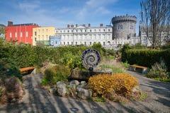 Dublin Castle from Dubh Linn Gardens Stock Photo