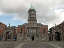 Dublin Castle Entrance Arkivfoton
