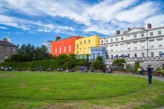 Dublin Castle Gardens Royaltyfri Bild
