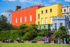 Dublin Castle Gardens Arkivbild