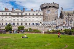 Dublin Castle Gardens Stock Image