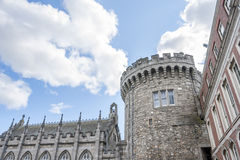 Dublin Castle. Dublin, Ireland - Aug 11, 2014: Record Tower and Chapel Royal of Dublin Castle  in Dublin, Ireland on August 11, 2014 Stock Images