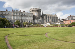 Dublin Castle. Dublin, Ireland - Aug 11, 2014: Record Tower and Chapel Royal of Dublin Castle  in Dublin, Ireland on August 11, 2014 Royalty Free Stock Photo