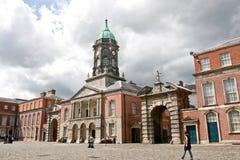 Dublin Castle, Ireland. Interior courtyard with tower, Dublin Castle in Baile Atha Cliath, Eire Royalty Free Stock Photos
