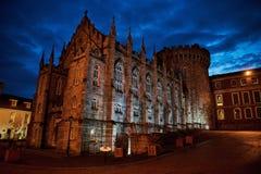 Dublin Castle in Ireland stock photography