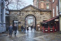 Dublin Castle port Arkivbild