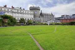 Dublin Castle, seen from park to the south Stock Image
