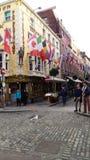 Dublin, Centraal Gebied, prettige gang door deze regenachtige charmante plaats royalty-vrije stock foto
