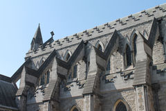 Dublin Christ Church Cathedral Close upp Arkivfoton