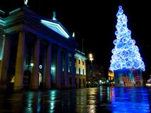 Dublin christmas lights Stock Photo