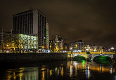 Dublin city centre at night Stock Images