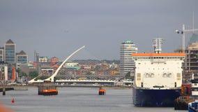 Dublin City das docas Imagens de Stock