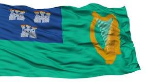 Dublin City Flag d'isolement Photographie stock libre de droits