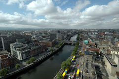Dublin City Ireland. An aerial view of Dublin City in Ireland