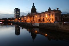 Dublin city in İreland. stock photography