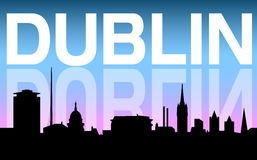 Dublin city skyline and background Stock Images