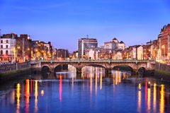 Dublin city skyline Stock Images