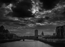 Dublin City Skyline. Taken From IFSC royalty free stock images