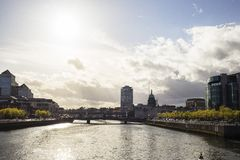 Dublin City Skyline. Taken From IFSC royalty free stock photos