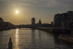 Dublin City Skyline Royalty Free Stock Photo