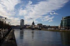 Dublin City Skyline. Taken From IFSC Stock Images