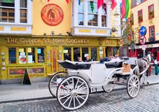 Dublin City Temple Bar District Royalty Free Stock Images
