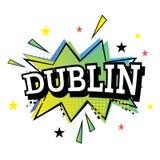 Dublin Comic Text en el estallido Art Style Foto de archivo libre de regalías