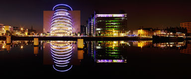 Dublin Convention Center and other buildings of the North banks Royalty Free Stock Image
