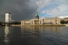 Dublin Custom House. View across the River Liffey to the Dublin Custom House Stock Images