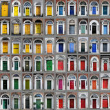 Dublin dörrar Arkivfoto