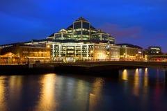 Dublin an der Dämmerung Stockfotografie