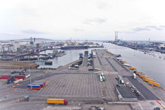 Dublin dock Royalty Free Stock Images