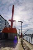 Dublin Docklands diving bell and the Samuel Beckett brigde Stock Image
