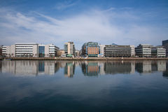 Dublin Docklands. A view of the Dublin Docklands area stock image