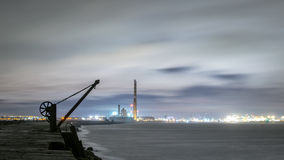Dublin Docks, faro de Poolbeg Foto de archivo