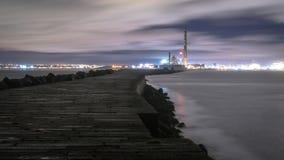 Dublin Docks, phare de Poolbeg Image libre de droits