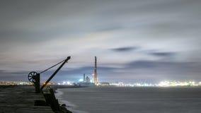 Dublin Docks Poolbeg fyr Arkivfoto
