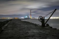 Dublin Docks Poolbeg fyr Arkivbild