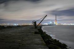 Dublin Docks Poolbeg fyr Royaltyfri Fotografi