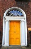 Dublin door. Typical door in Dublin ireland stock photo