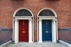Dublin doors. Typical doors in Dublin Ireland stock photo