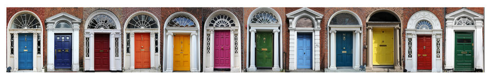 Dublin doors Royalty Free Stock Images