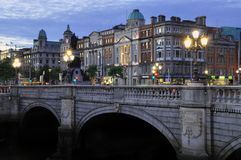 Dublin At Dusk Royaltyfria Bilder