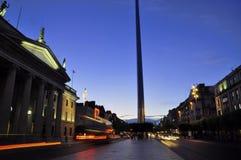 Dublin At Dusk Arkivbilder