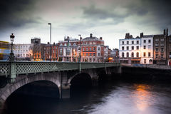 Dublin Grattan Bridge Royalty Free Stock Photos