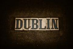 Dublin grungetegelplattor royaltyfri bild